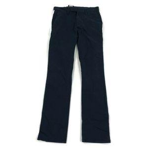 DKNY Mens Chino Pants Side Stripe Navy Blue White